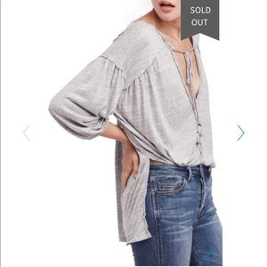 🎉 Free people Grey Henley NWT size M 🎉